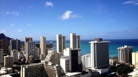 快晴のハワイでヨガ